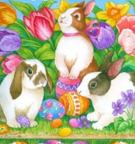 Easter Happy Bunnies 1514