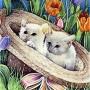 Hat Kittens Spring Garden Flag