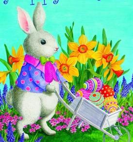 Bunny Wheelbarrow
