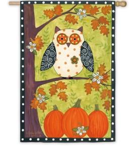Owl on Tree Vertical
