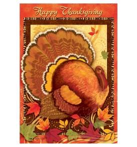 Thanksgiving Garden Flag Happy Thanksgiving