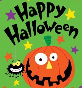 Halloween pumpkin spider