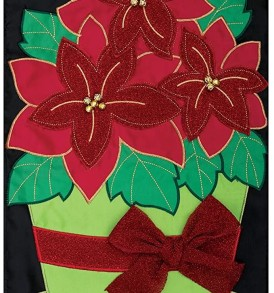 poinsettia pot Applique