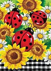 sunflower ladybugs